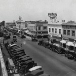 The role and character of downtowns has changed dramatically since the first half of the 20th century (Downtown Anaheim 1923)