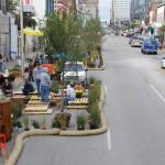 Better Block Project on Grand Boulevard in Kansas City, Missouri (Image: Better Block KC)